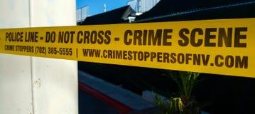 La ligne de police - scène du crime - ne croisent pas - LAS VEGAS/NEVADA - 20 octobre 2017 images stock