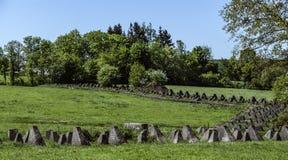 La ligne de Siegfried ou le Westwall derrière Aix-la-Chapelle, Allemagne Photo libre de droits