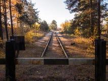 La ligne finale du chemin de fer Image libre de droits