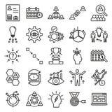 La ligne icône d'isolement par vecteur de concepts d'affaires peut être facilement modifiée et éditée illustration libre de droits