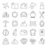 La ligne icônes minces de voyage et de vacances a placé pour le Web et la conception mobile Photos stock