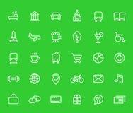 La ligne icônes a placé pour des cartes et des apps de navigation illustration stock