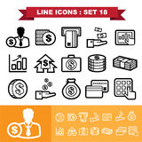 La ligne icônes a placé 18 Image stock