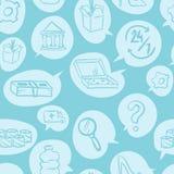 La ligne mince magasin en ligne et marché de vente au détail d'achats de commerce électronique sans couture blanc de modèle conço Images stock