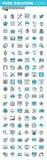 La ligne mince moderne icônes a placé du développement de conception graphique, d'APP et de site Web Images stock