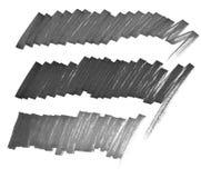 La ligne noire marqueur de silhouette sur le fond blanc illustration libre de droits