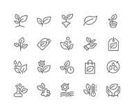 La ligne plante des icônes illustration libre de droits