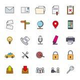 La ligne remplie vecteur de business basic d'icône a placé 2 illustration libre de droits