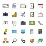 La ligne remplie vecteur de business basic d'icône a placé 1 Images stock