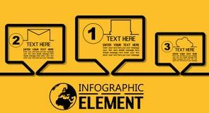 La ligne simple d'Infographic calibre de style avec des étapes partie des options Photographie stock