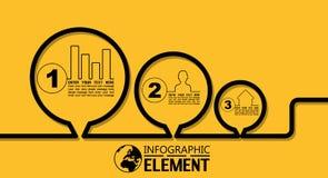 La ligne simple d'Infographic calibre de style avec des étapes partie des options Image stock