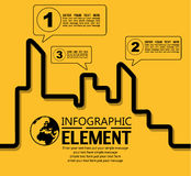 La ligne simple d'Infographic calibre de style avec des étapes partie la ville d'options Image stock