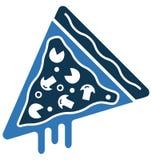 La ligne vecteur de tranche de pizza a isolé l'icône adaptée et editable aux besoins du client Images stock