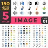 La ligne Web mobile à plat isométrique de l'image 150 de photo se reposent Photo stock