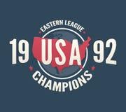 La ligue des Etats-Unis soutient la mode d'habillement de T-shirt illustration de vecteur
