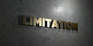 La limitazione - testo dell'oro su fondo nero - 3D ha reso l'immagine di riserva libera della sovranità illustrazione di stock