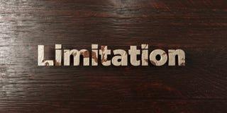 La limitazione - titolo di legno grungy sull'acero - 3D ha reso l'immagine di riserva libera della sovranità illustrazione di stock