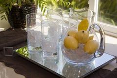 La limonada agrega el agua Imagen de archivo libre de regalías