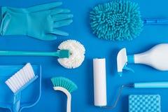 La limpieza equipa el fondo Fotos de archivo