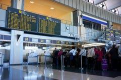 La linea aerea controlla contro Fotografia Stock