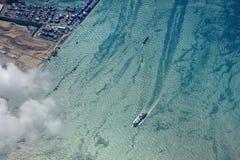 La linea costiera blu Immagine Stock Libera da Diritti