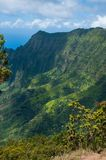 La linea costiera del Na Pali a Kalalau trascura, Kauai, Hawai Fotografia Stock