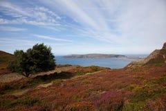 La linea costiera del nord del Galles Fotografia Stock