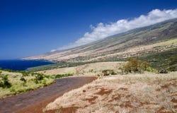 La linea costiera dell'isola scenica di Maui, Hawai Immagine Stock