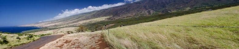 La linea costiera dell'isola scenica di Maui, Hawai Fotografia Stock Libera da Diritti