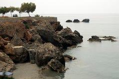 La linea costiera di Chora Sfakia Fotografie Stock
