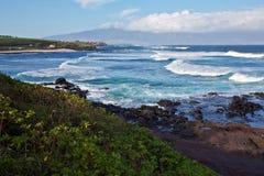 La linea costiera di Maui del nord Immagine Stock