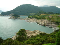 La linea costiera in Hallyeo Haesang NP vicino a Tongyeong, Gyeongsangnam-fa provincia Fotografia Stock