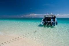 La linea costiera idilliaca di Krabi in Tailandia Fotografia Stock