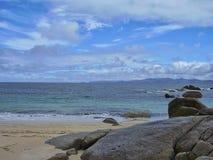 La linea costiera rocciosa dell'isola Tasmania del Flinders Fotografia Stock Libera da Diritti