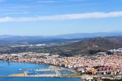 La Linea de la Concepcion i Spanien Arkivfoton