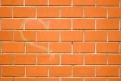 La linea del cespuglio del cuore sulla parete fotografie stock libere da diritti
