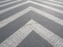 La linea del marciapiede Fotografia Stock