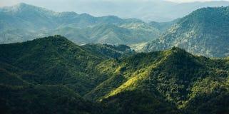 La linea della cresta nel Laos del Nord Fotografie Stock Libere da Diritti