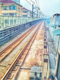 La linea 3 della metropolitana di Schang-Hai Immagine Stock