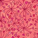 La linea di amore collega il modello senza cuciture Immagine Stock Libera da Diritti