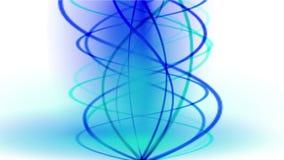 la linea di fuoco di spirale dell'oro 4k il fumo, energia segnala, onda calda di vibrazione del ritmo di incandescenza illustrazione vettoriale
