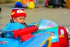 La linea di partenza dei bambini Fotografie Stock