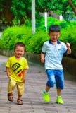 La linea di partenza dei bambini Immagini Stock Libere da Diritti