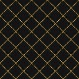 La linea di scintillio della stagnola di oro barra il modello senza cuciture Immagine Stock