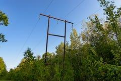 La linea elettrica Fotografie Stock