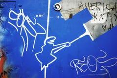La Linea (the Line) street art Stock Photos