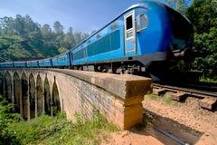La linea principale strada di ferrovia nello Sri Lanka Immagine Stock Libera da Diritti