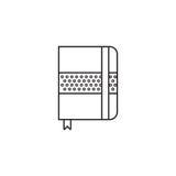 La linea sottile l'icona, le regolazioni del taccuino descrive il vettore fotografia stock