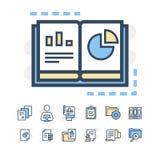 La linea sottile moderna icone ha messo di pianificazione del progetto e dello sviluppo di flusso di lavoro di affari Simbolo pre Fotografia Stock Libera da Diritti