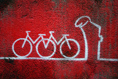 La Linea (the Line) Street Art Stock Image